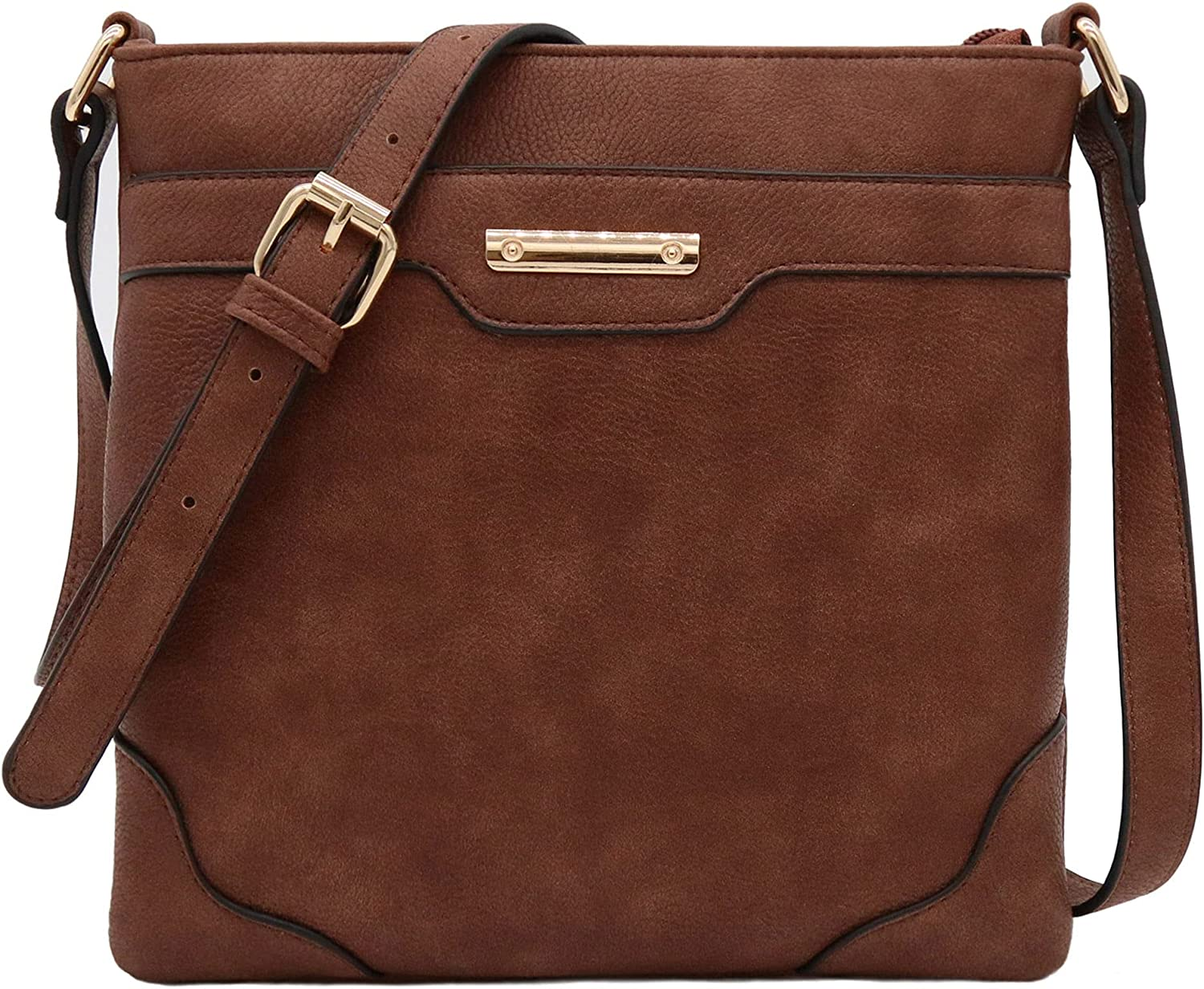 Special sale item Medium Size Solid Modern Max 59% OFF Classic with Bag Gold Crossbody Plate
