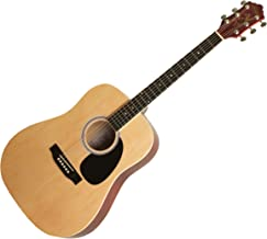 Kay Steel String Full Size Dreadnought 6 Natural Finish, Right Handed, (K537N)
