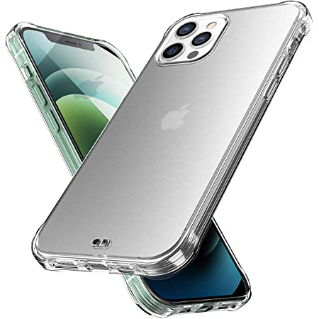 ORIbox compatible iPhone 12 pro max Case Clear, Translucent Matte case with Soft Edges, Lightweight, Wireless Charging