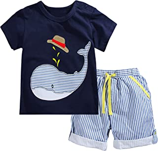 Fiream Little Boys' Cotton Clothing Short Baby Sets