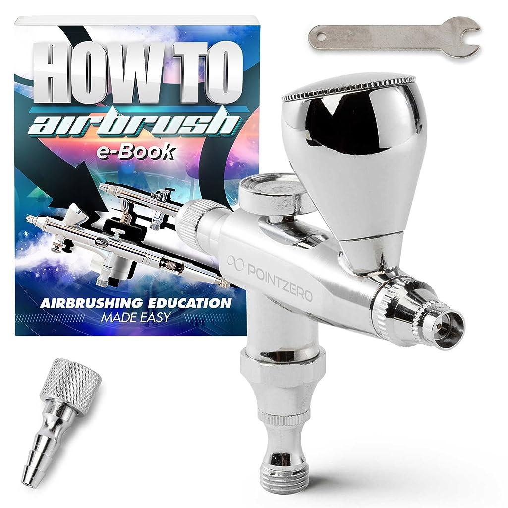 PointZero Single Action 7cc Gravity-Feed (Stubby) Airbrush Set - .3mm Nozzle