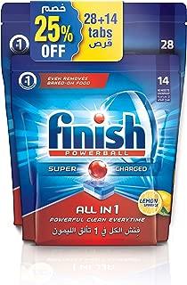 Finish Dishwasher Detergent Tablets, All in One Lemon, 28+14s (42 tablets)