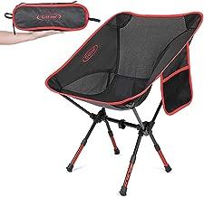 G4Free Portable Camping Chaises avec Appui-t/ête Chaise de randonn/ée l/ég/ère avec Sac de Transport et Pochette lat/érale pour Le Camping en Plein air Picnic Beach Festival Party