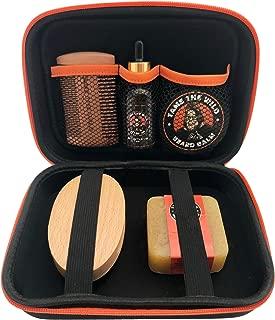 Tame's Premium Beard Grooming Kit - Natural Beard Care Kit For Men - Orange Walnut Beard Soap - Beard Balm - 100% Boar's Hair Beard Brush - Double Sided Beard Comb – Beard Oil - Travel Storage Case