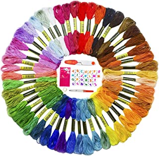 Premium Embroidery Thread for Friendship Bracelet String - 60 Colors Coded as DMC Embroidery Floss - Cross Stitch, Any Thr...