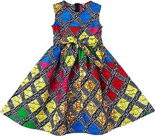 Shenbolen Girls Dashiki Print Dress African Tradition Dresses