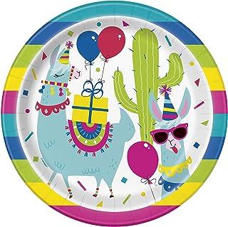 Llama Birthday Party Paper Plates, 8 Ct.