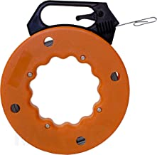 RAM-PRO 50 Foot Reach, Spring-Steel Fish Tape Reel, with High Impact Case, for Electric or Communication Wire Puller