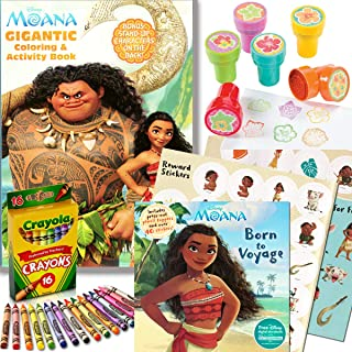 Disney Moana Coloring & Activity Book with Moana Stickerland Stickers, Crayons and Stampers