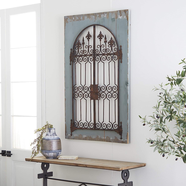 Deco 25 Classic Panel de pared de madera y metal, pistacho calmante y marrón