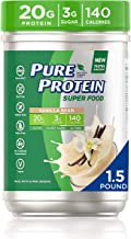 Pure Protein Vegan Plant Based Hemp and Pea Protein Powder, Gluten Free, Vanilla Bean, With Vitamin D and Zinc to Support ...