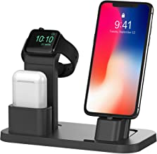 BEACOO Stand for iwatch, Charging Stand Dock Station for AirPods Stand Charging Docks Holder, Support for iwatch NightStand Mode and for iPhone 11/X/7/7plus/SE/5s/6S(Not fit for iWatch 5 charger)