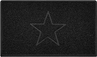 Star Embossed Shape Door Mat Dirt-Trapper Washable Barrier Doormat-(Use Indoor or Sheltered Outdoor)-(75x44cm/29.5x17.3inc...