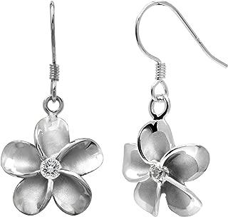 plumeria earrings hawaiian jewelry