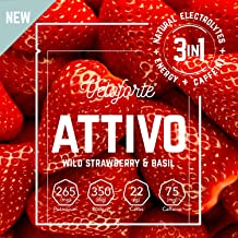 Veloforte Attivo Natural Electrolyte Powder Fast-Release Energy Natural Caffeine for Hydration and Performance in Wild Strawberry Basil Perfect for Before During Exercise 9 Estimated Price : £ 14,99