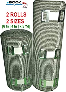 SETH - 2 Sizes - High Compression Elastic Bandage | Compression Bandage wrap Rolls for Knee, Foot, Legs, Ankle, Thigh, Calf,Joint Effusion,Sprains,Strains & Venous Disorders - 6