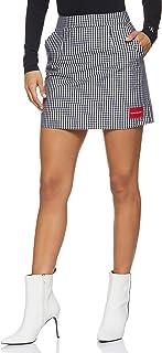 Calvin Klein Women's 8719113631-Black Calvin Klein Jeans A-Line Gingham Short Skirt for Women - CK Black