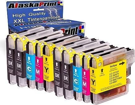 10x Druckerpatronen kompatibel für Brother LC-980 XL LC980 XL Brother DCP-145C DCP-163C DCP-165C DCP-167C DCP-185C DCP-195C DCP-365CN DCP-373CW DCP-375CW DCP-377CW DCP-383C DCP-385C