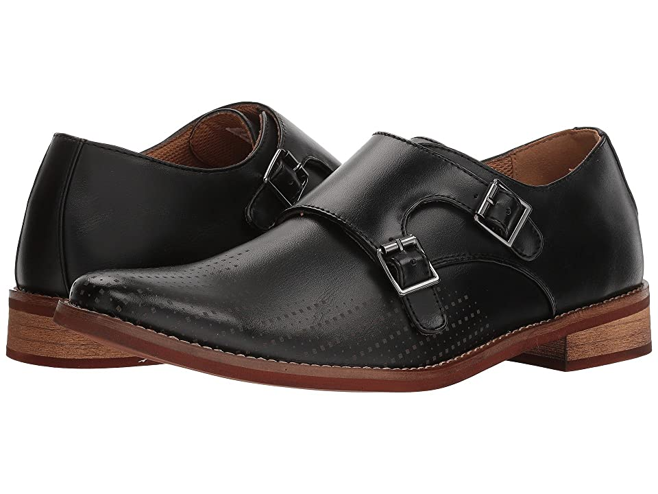 Deer Stags Cyprus Perf Monk Strap (Black Simulated Leather) Men