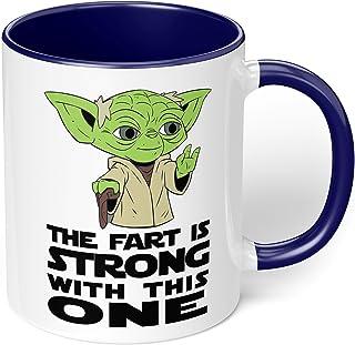 "1 Mug -""Yoda - Fart Jokes"" Funny Mug - Perfect for your cuppa Coffee, Tea, Karak, Milk, Cocoa or whatever Hot or Cold Beve..."