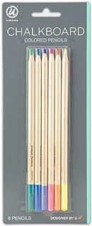 U Brands Chalkboard Colored Pencils, Assorted Colors, 6-Count