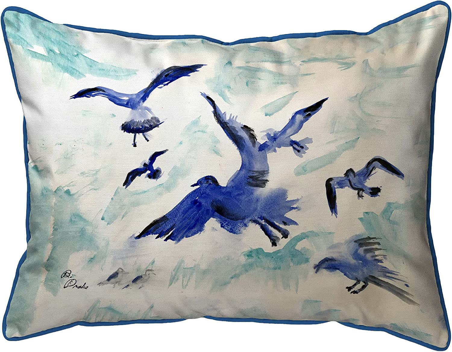 Very popular! Betsy Drake Flocking Gulls Large Indoor 16x20 Pillow Fresno Mall Outdoor