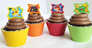 Angry Birds Cupcake Toppers and Wrappers Combo Pack- Set of 12