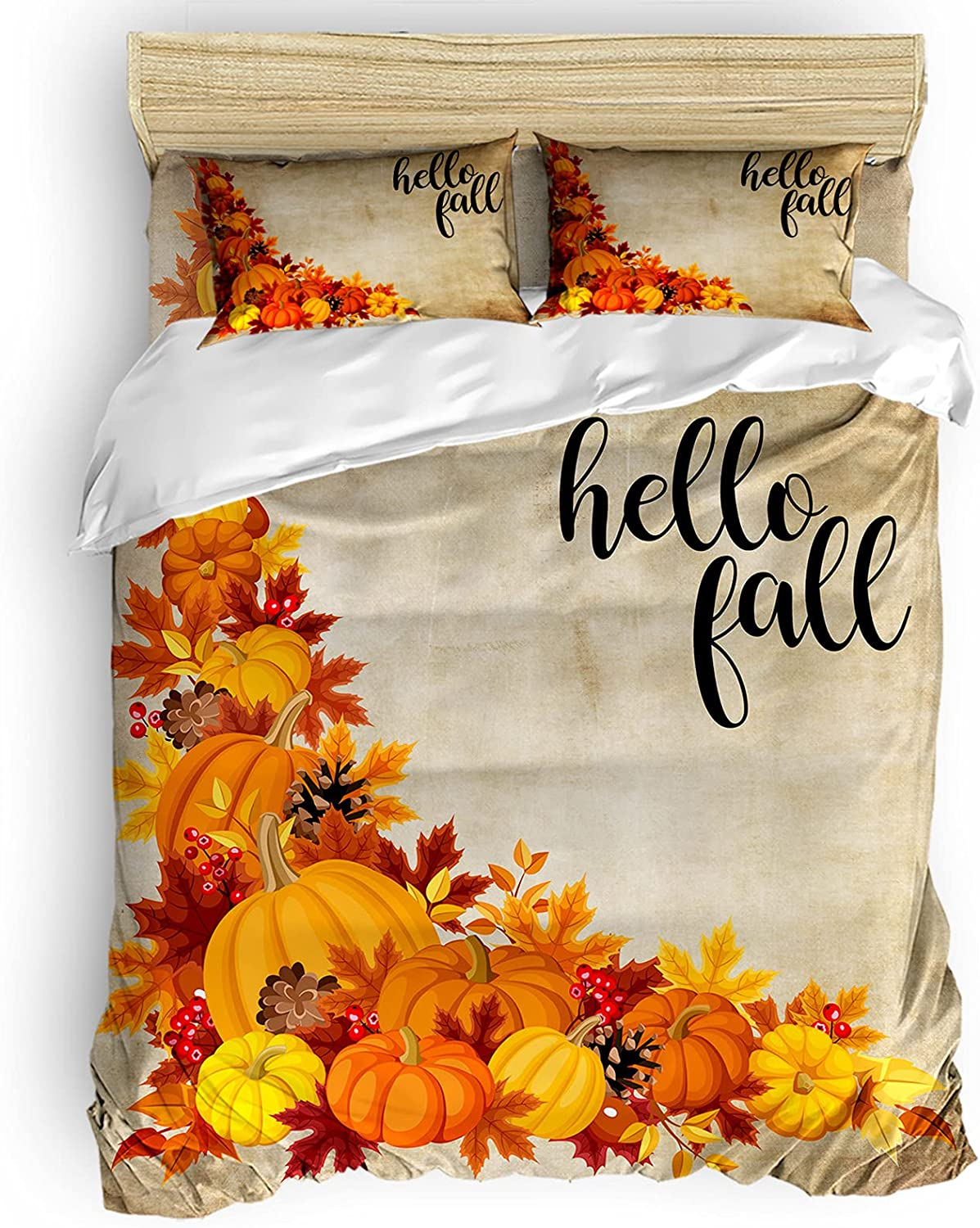 Twin Comforter Covers Sets Hello Pumpki Corner Thanksgiving trend rank Fall low-pricing