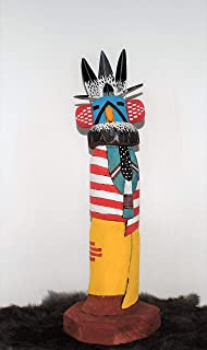 Eagle Dancer Kachina Sculpture with US and New Mexico State Flag Design