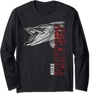 Musky fishing muskie factory long sleeve shirt