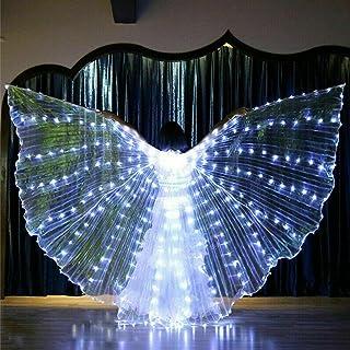 QOTSTEOS - Ala a LED per la danza del ventre, da indossare sul palco a 360 gradi, per spettacoli di scena, Halloween, fest...
