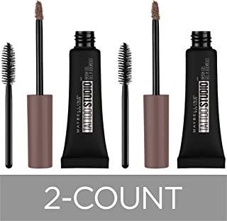 Maybelline New York Tattoostudio Waterproof Eyebrow Gel Makeup, Medium Brown, 2 Count