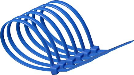 100mm x 2.5mm Blue Heavy Duty Nylon Cable Ties : Supplied in sealed poly bag of 100