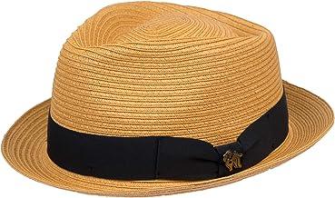 Sombrero de playa Cuba Blue Style Hat, sombrero de verano, material de papel, sombrero de ciudad, sombrero de sol para hombre, con banda de costilla, primavera/verano