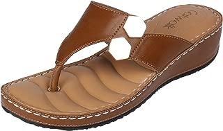 Catwalk Women's Metal Detail Thong Sandals