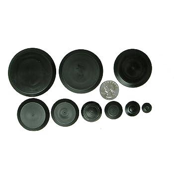 Locking Rigid Plastic Hole Plug Assortment 6//10//22mm 25//50Pieces push-in round