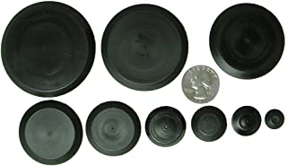 50 Piece Flush Mount Black Hole Plug Assortment for Auto Body and Sheet Metal