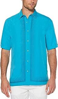 Cubavera Men's Ombre L Shape Embroidery Shirt