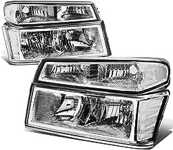 For Chevy Colorado/GMC Canyon 4Pcs of Chrome Housing Clear Corner Headlight Bumper Light