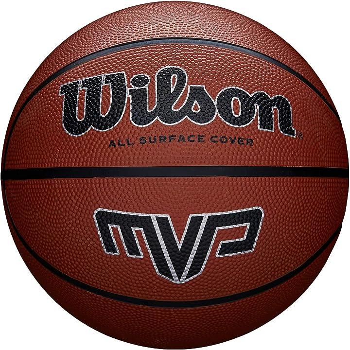 Pallone da basket wilsonin gomma, uso all`interno e all`esterno WTB9017XB05