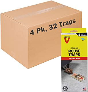 Victor M158-4 Metal Pedal Mouse Trap, 8 Traps, Pack Of 4