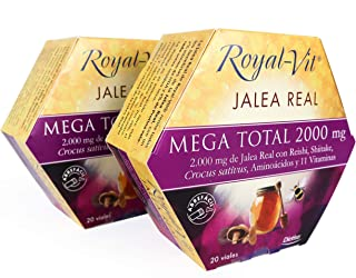 Royal-Vit - Jalea Real Mega Total de 2000 mg. Pack x 2 de 20