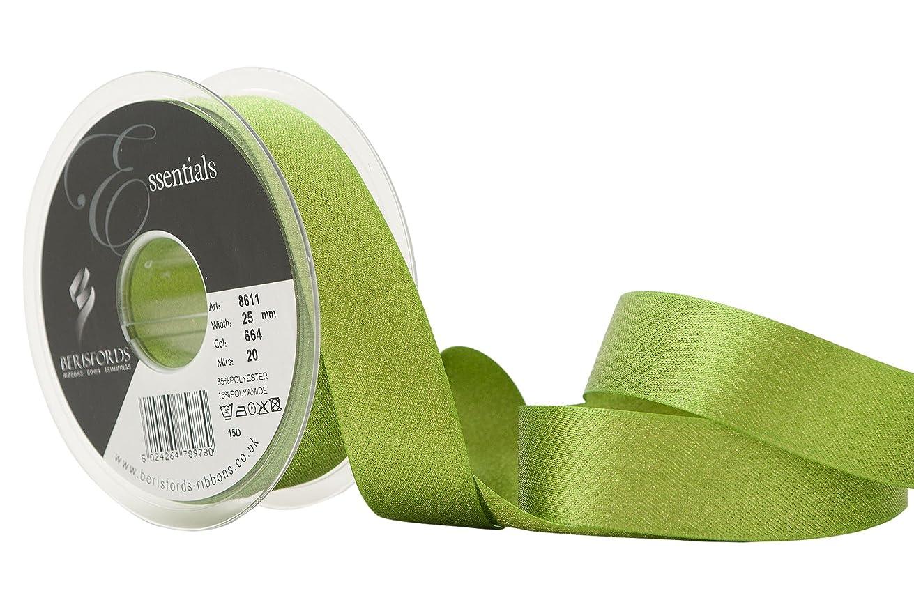 Berisfords 25 mm Glitter Satin Ribbon, Meadow