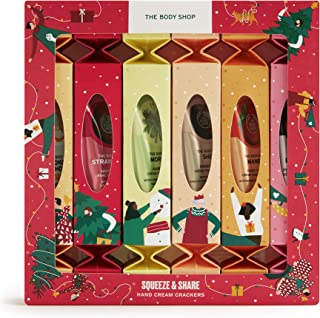 The Body Shop Squeeze and Share Hand Cream Crackers- 6pc Gift Set, With Fruity, Floral and Nutty For All Skin Types, 6.08 ...