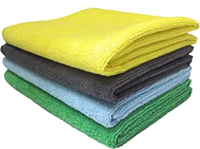 SOBBY Microfiber Cleaning Cloths (40 cm x 60 cm - Assorted Colour) - Pack of 4