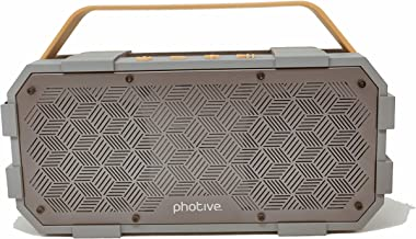Photive Bluetooth Speaker | M90 XLarge Portable Wireless | Built-in Subwoofer Waterproof Shockproof 20-Watts Extreme Audio Power | IPX5 Water Resistant Indoor Outdoor Stereo Beach Pool Party Boombox