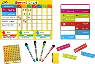 Magnetic Behavior Chart for Kids - Reward and Responsibility Chart - Multiple Kids - Refrigerator Chore Chart with Magnets...