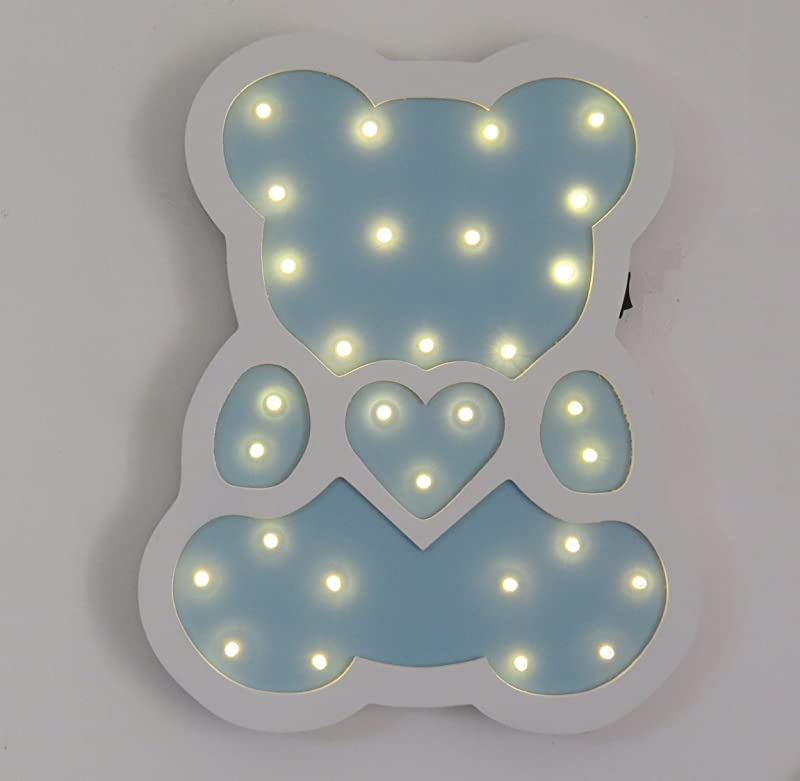 Night Lights LED Wooden Decorative Table Lamps For Nursery Decor Kid S Room Home Decor Gifts Bear