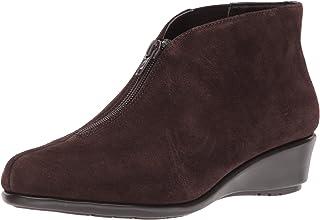 Aerosoles Women's Allowance Ankle Boot, dark brown suede, 9 W US