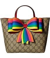Gucci Kids - GG Supreme Bow Tote Bag (Little Kids/Big Kids)